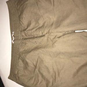 H&M cotton and linen blend pants